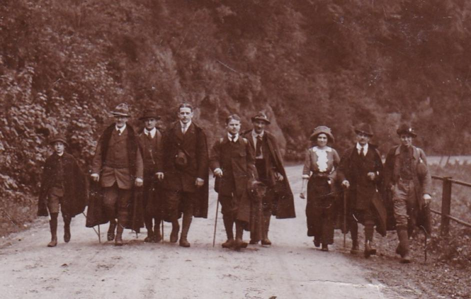 Wanderung der NaturFreunde Düsseldorf im Jahr 1913