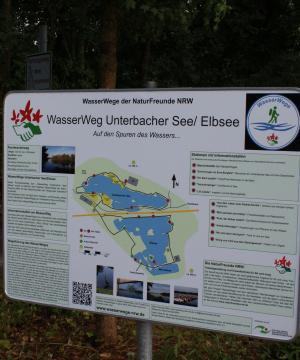 Übersichtstafel WasserWeg Unterbacher See/Elbsee